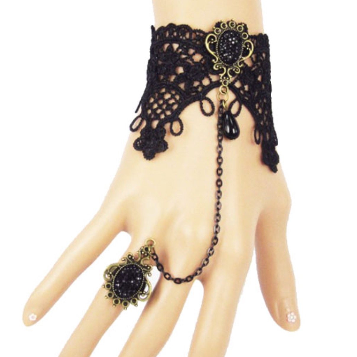 Lace cuff and ring