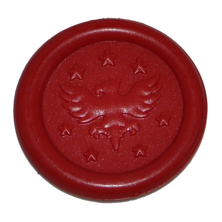 Adhesive wax seals