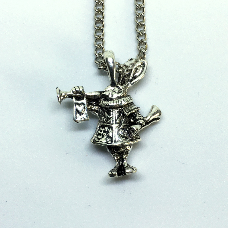 White Rabbit necklace pendant