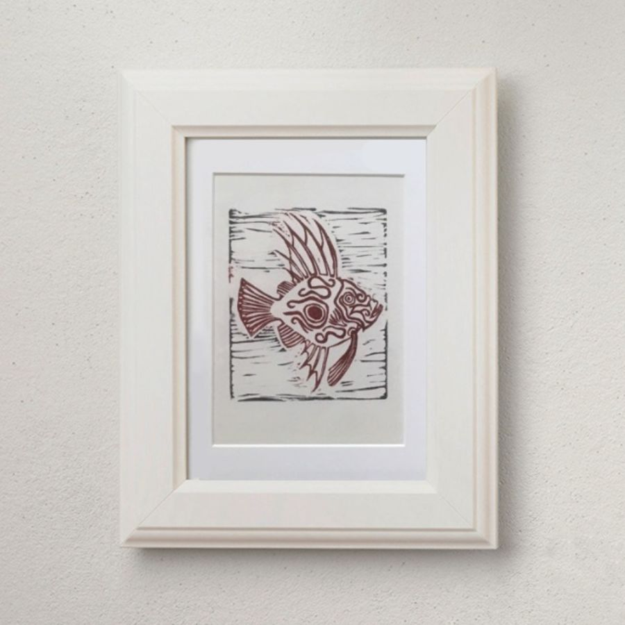 Framed limited edition fish print