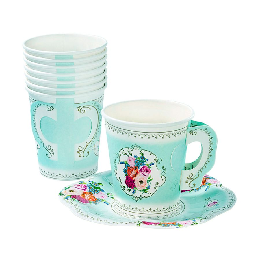 Truly Scrumptious paper teacup and saucer set