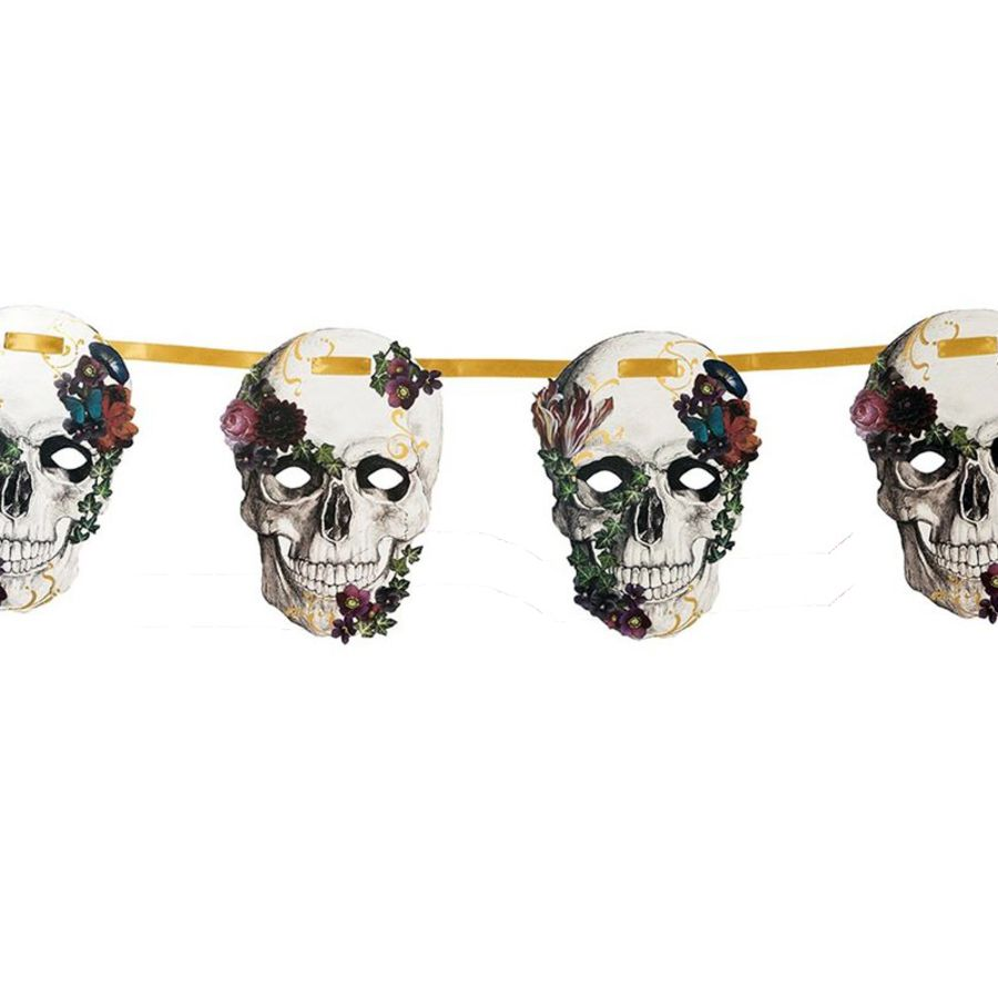 Baroque skeleton skull garland