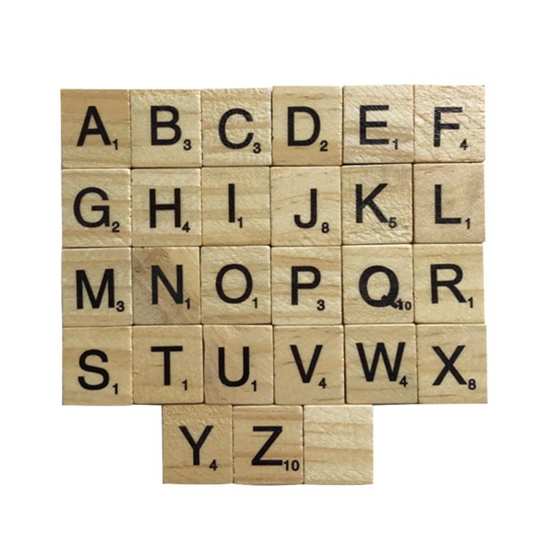 Wooden Scrabble Tiles (single)