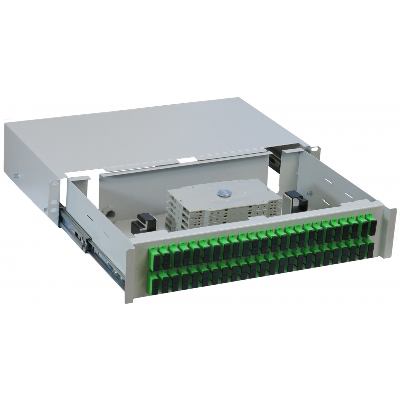FRE-48/SC/DX Pull-out patch panel (duplex) Rack 19