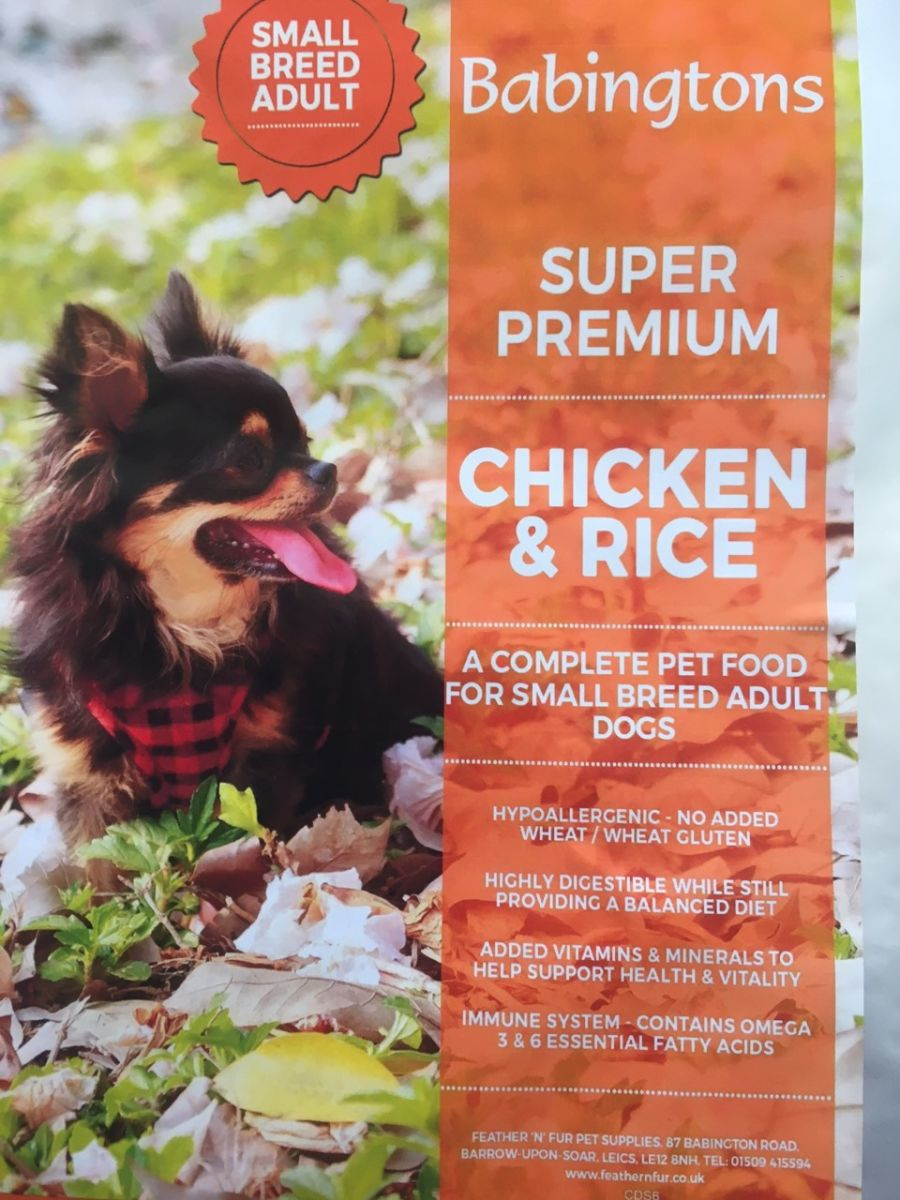Small Breed Chicken & Rice 6kg or 12kg from