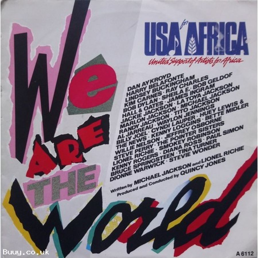 USA For Africa - We Are The World - Vinyl Record 7