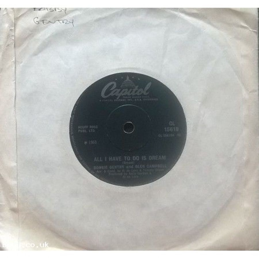 Bobby Gentry & Glen Campbell - All I Have To Do Is Dream - Vinyl Record 7