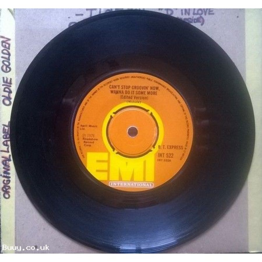 B.T. Express - Can't Stop Groovin - Vinyl Record 7