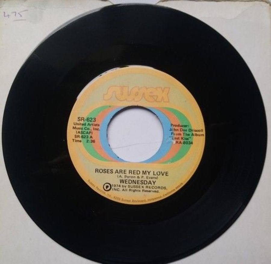 Wednesday - Roses Are Red My Love - Vinyl Record 7