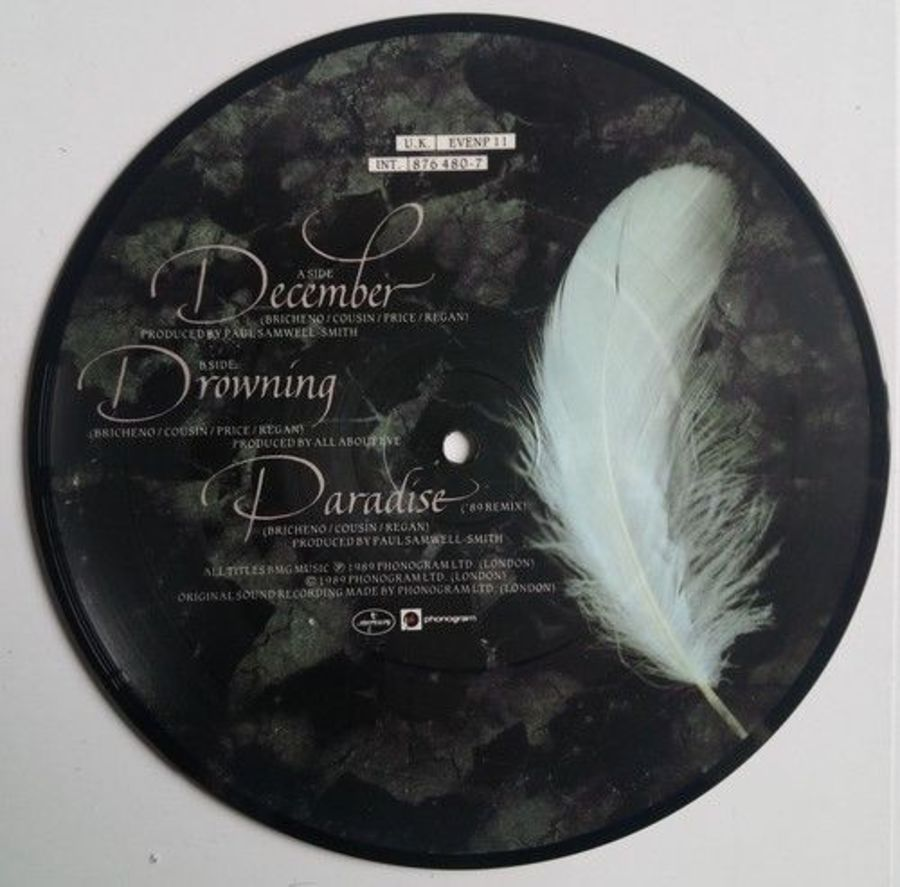 All About Eve - December - Vinyl Record 7