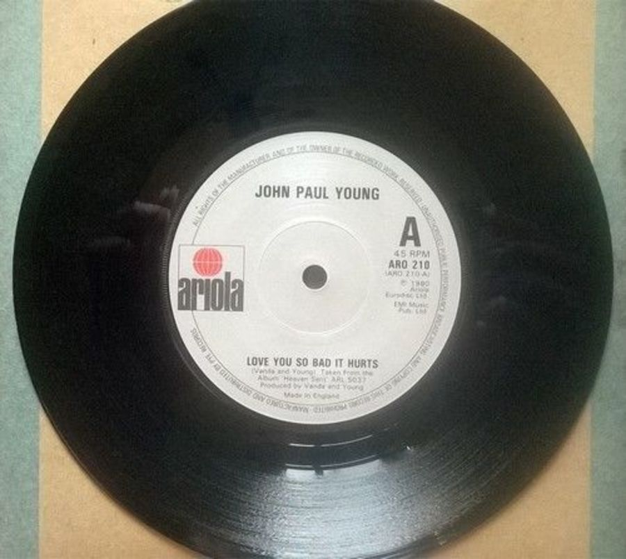 John Paul Young - Love You So Bad It Hurts - Vinyl Record 7