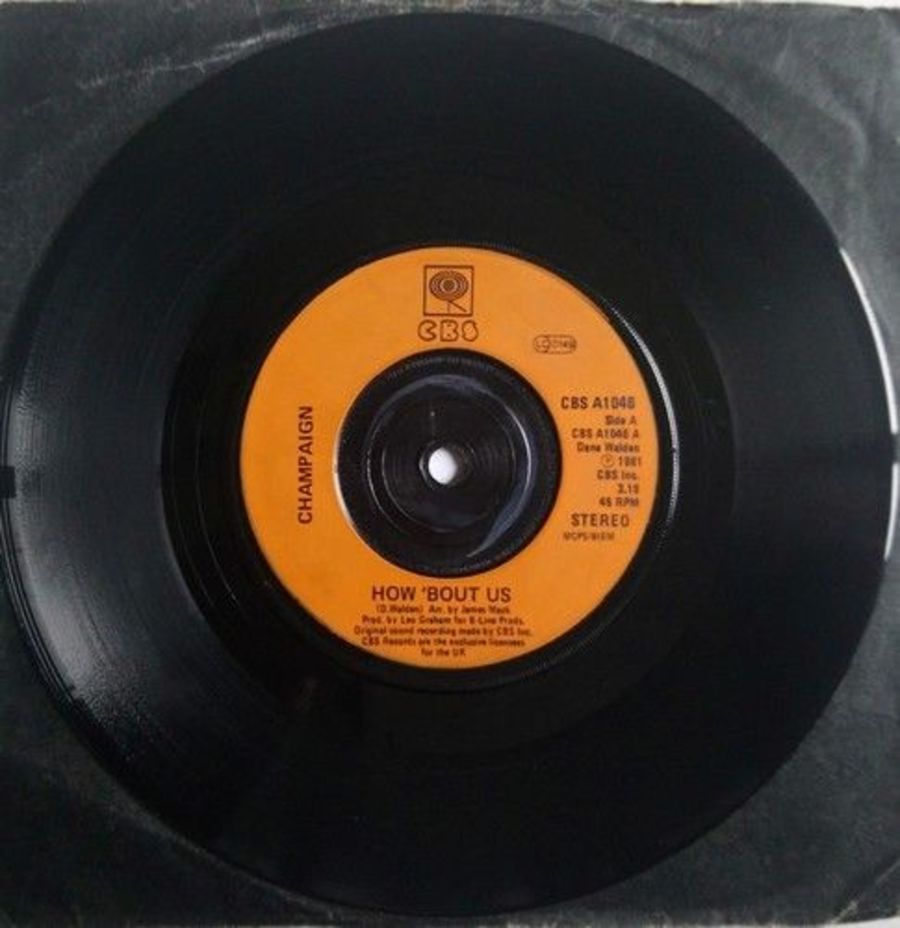 Champaign - How Bout Us - Vinyl Record 7