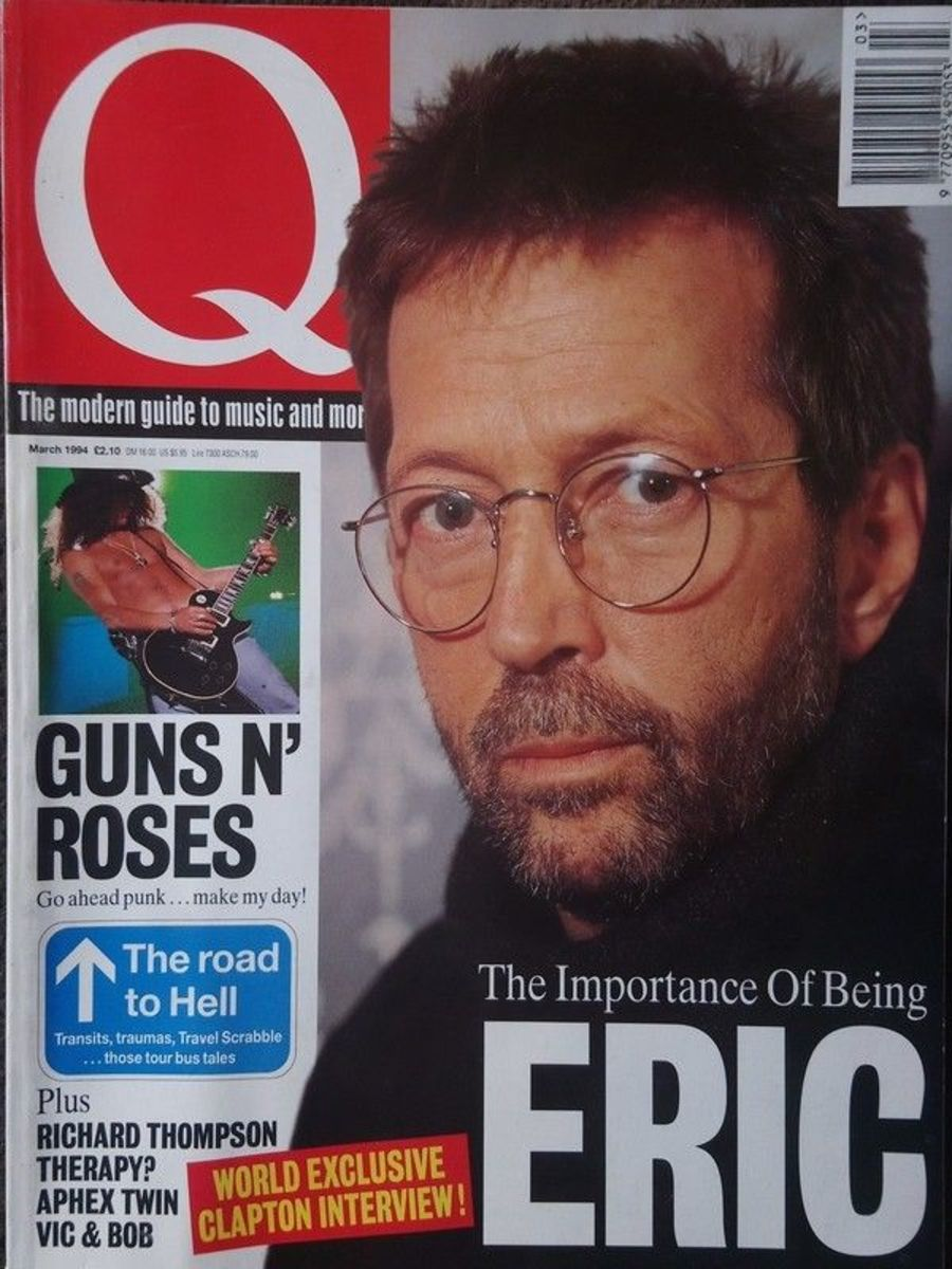 Q Magazine March 1994 - Guns N Roses - Eric Clapton