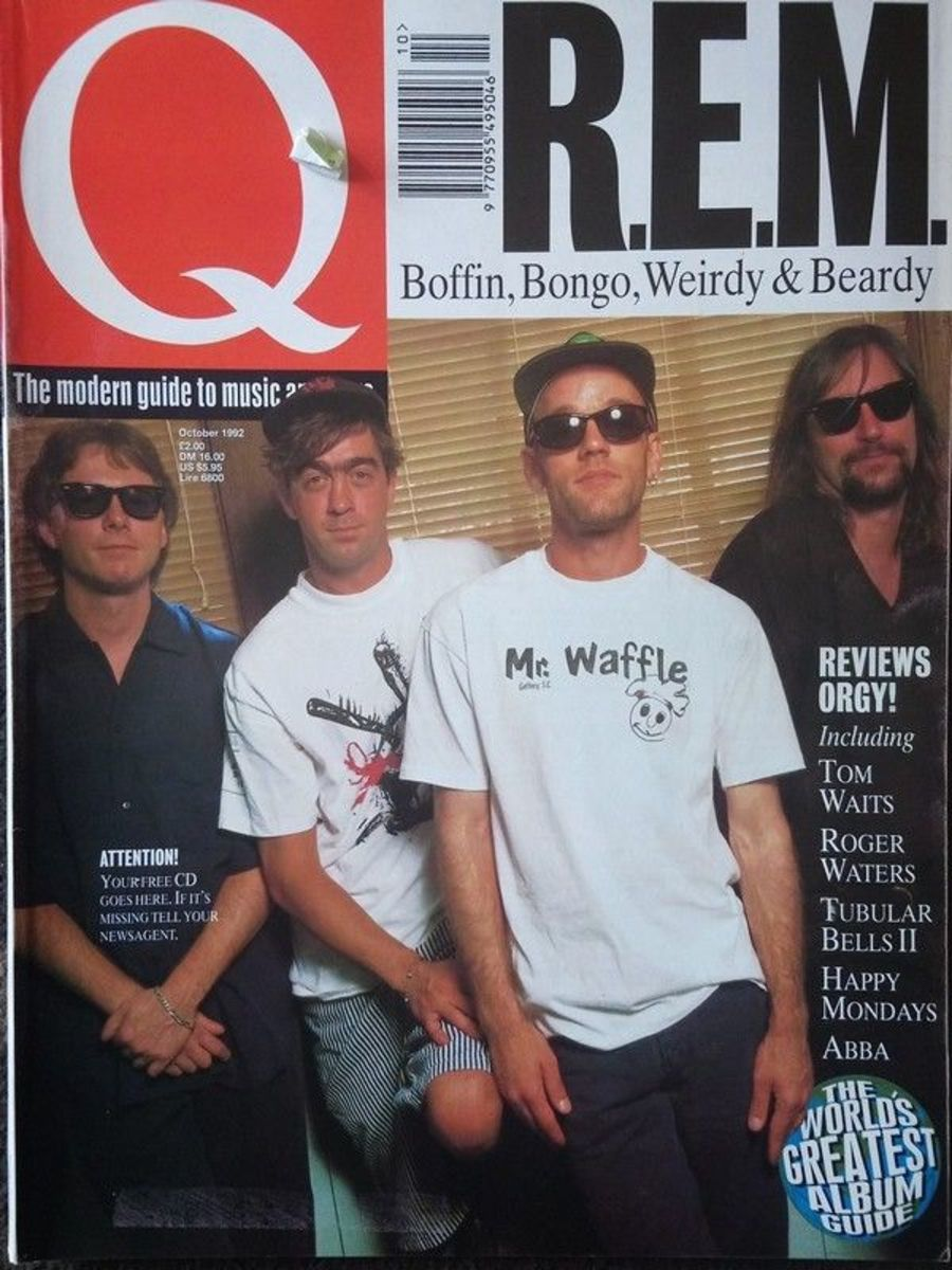 Q Magazine issue 73 October 1992, R.E.M. Ron Wood, Mike Oldfield, Television.
