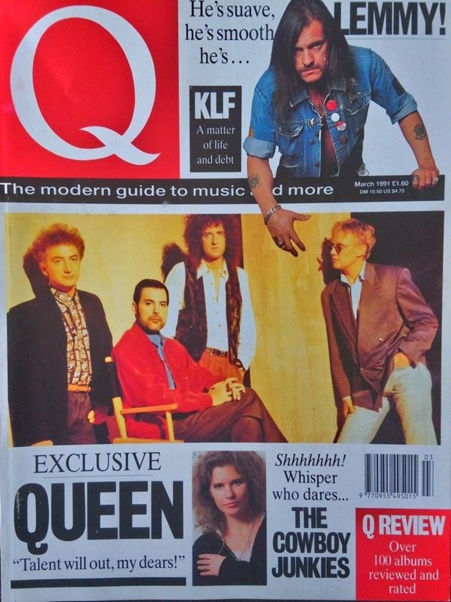 Q Magazine March 1991 MBox 2846 Lemmy - Queen - KLF -The Cowboy Junkies