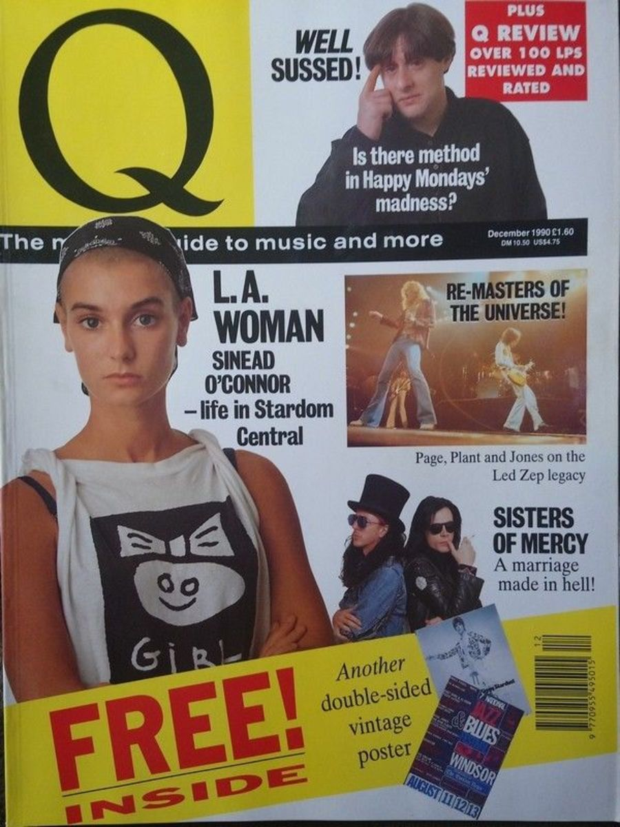Q MAGAZINE - DECEMBER 1990 - SINEAD O'CONNOR SISTERS OF MERCY HAPPY MONDAYS
