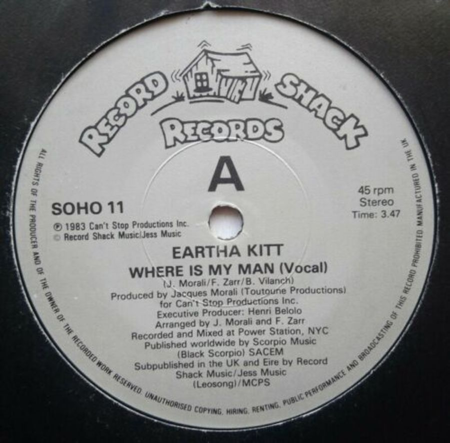 Eartha Kitt - Where Is My Man - Vinyl Record 7