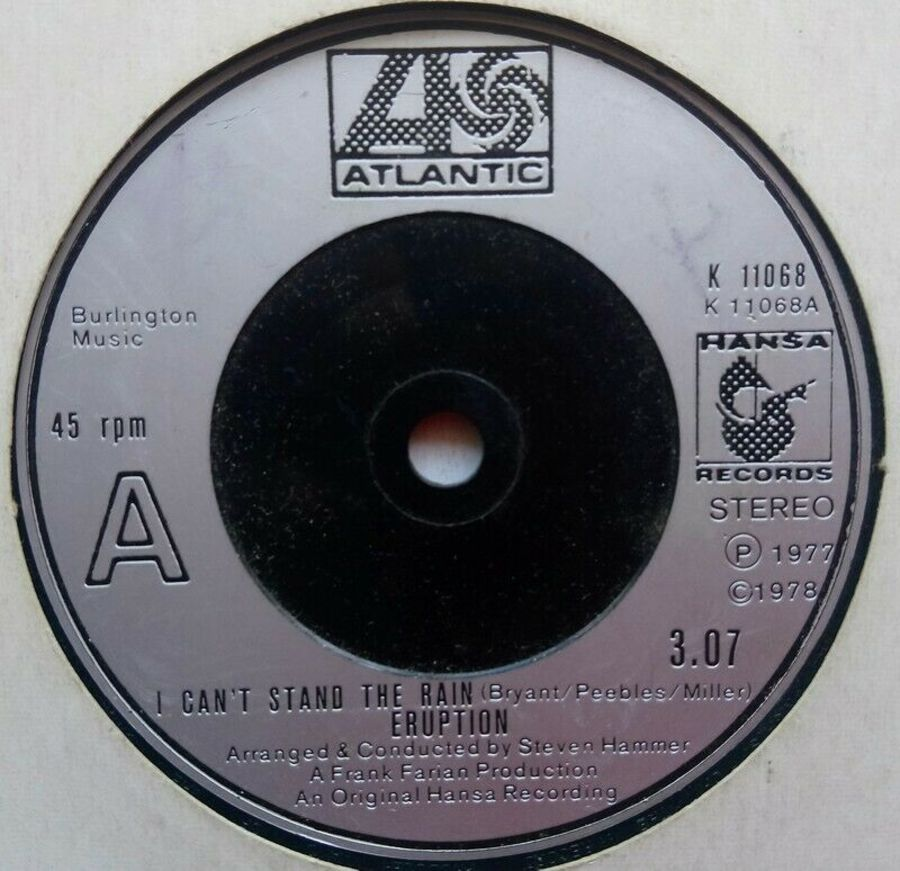 Eruption - I Can't Stand The Rain - Vinyl Record 7