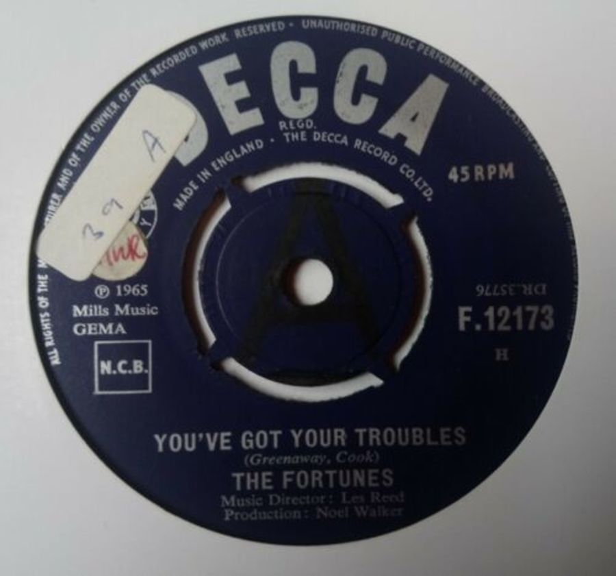 The Fortunes - You've Got Your Troubles - Vinyl Record 7