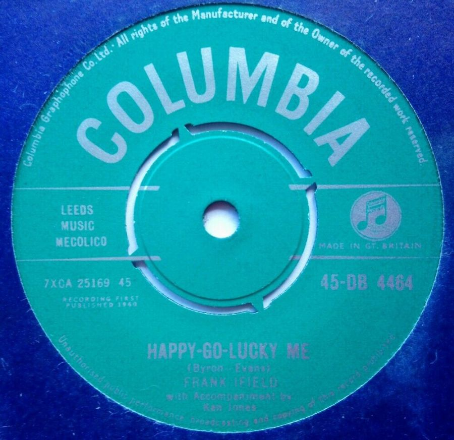 Frank Ifield - Happy Go Lucky Me / Unchained Melody - Vinyl Record 7