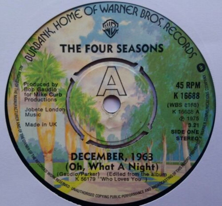 The Four Seasons - December 1963 ( Oh What A Night ) - Vinyl Record 7
