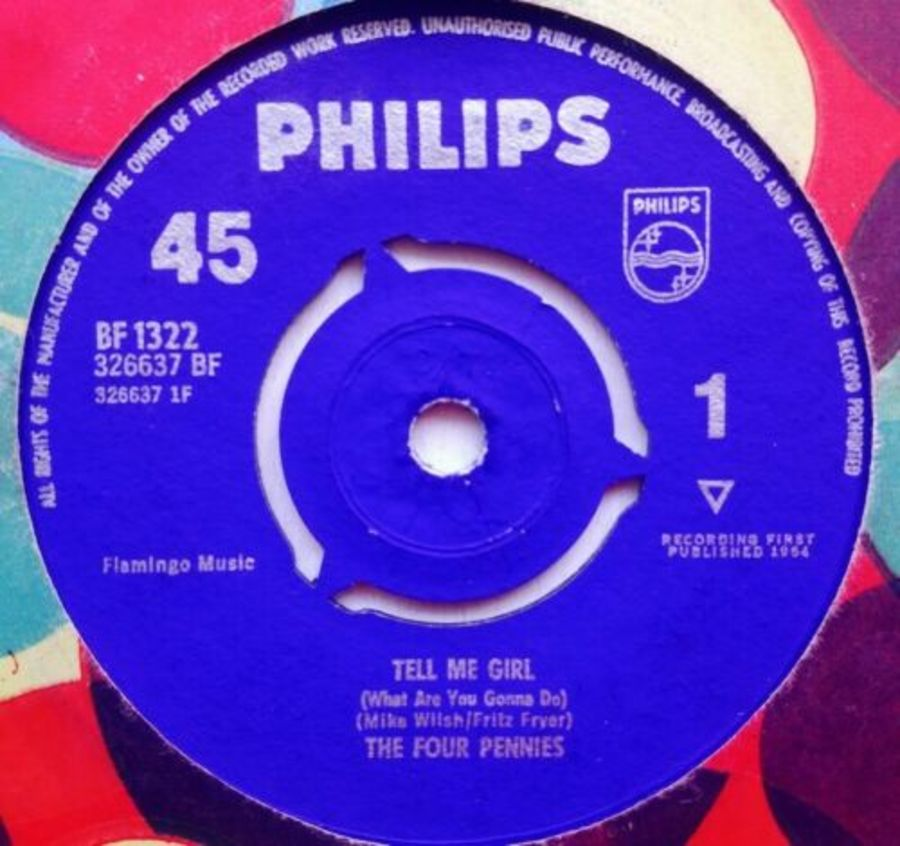 The Four Pennies - Tell Me Girl - Vinyl Record 7