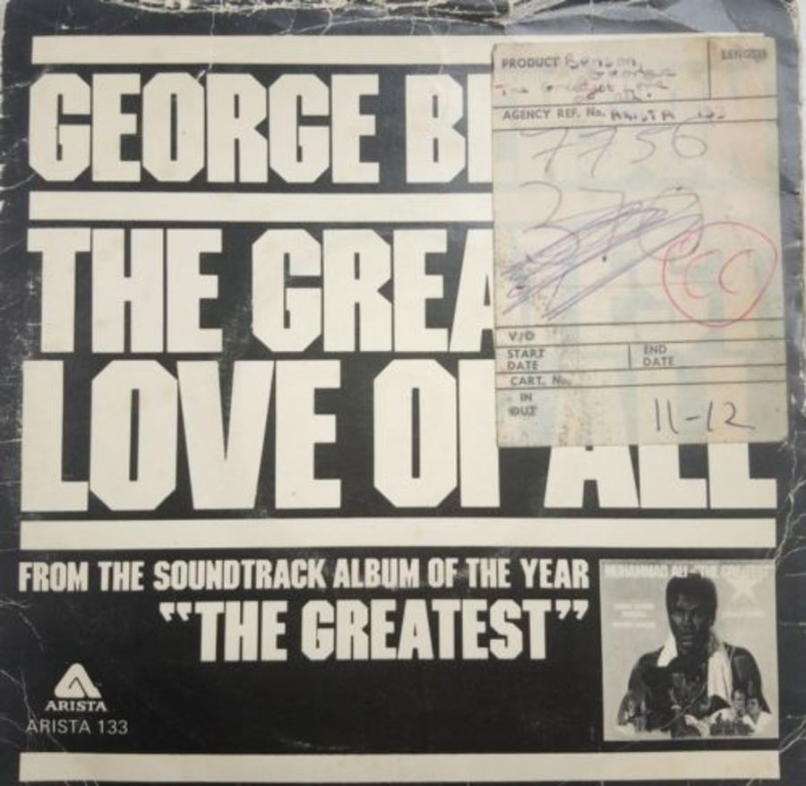 George Benson - The Greatest Love Of All - Vinyl Record 7