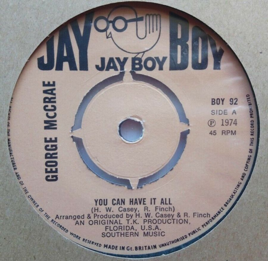 George McCrae - You Can Have It All - Vinyl Record 7