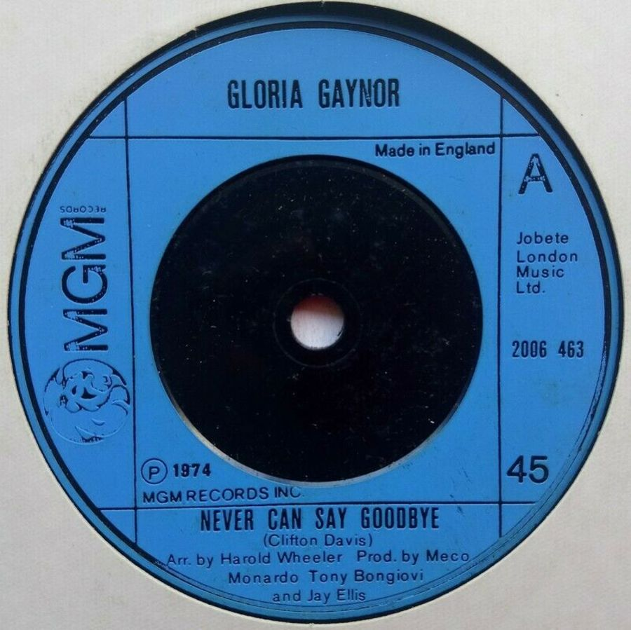 Gloria Gaynor - Never Can Goodbye - Vinyl Record 7