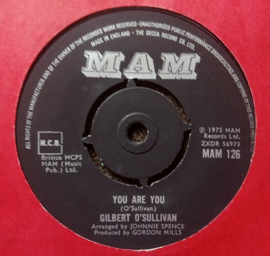 Gilbert O'Sullivan - You Are You - Vinyl Record 7