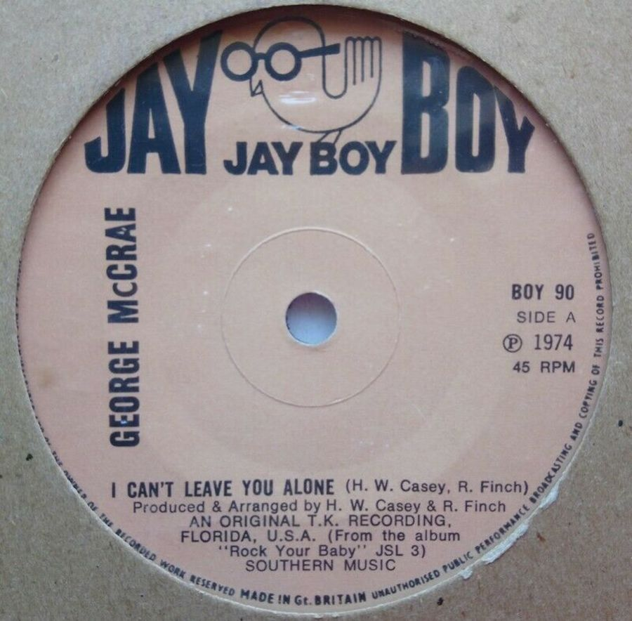 George McCrae - I Can't Leave You Alone - Vinyl Record 7