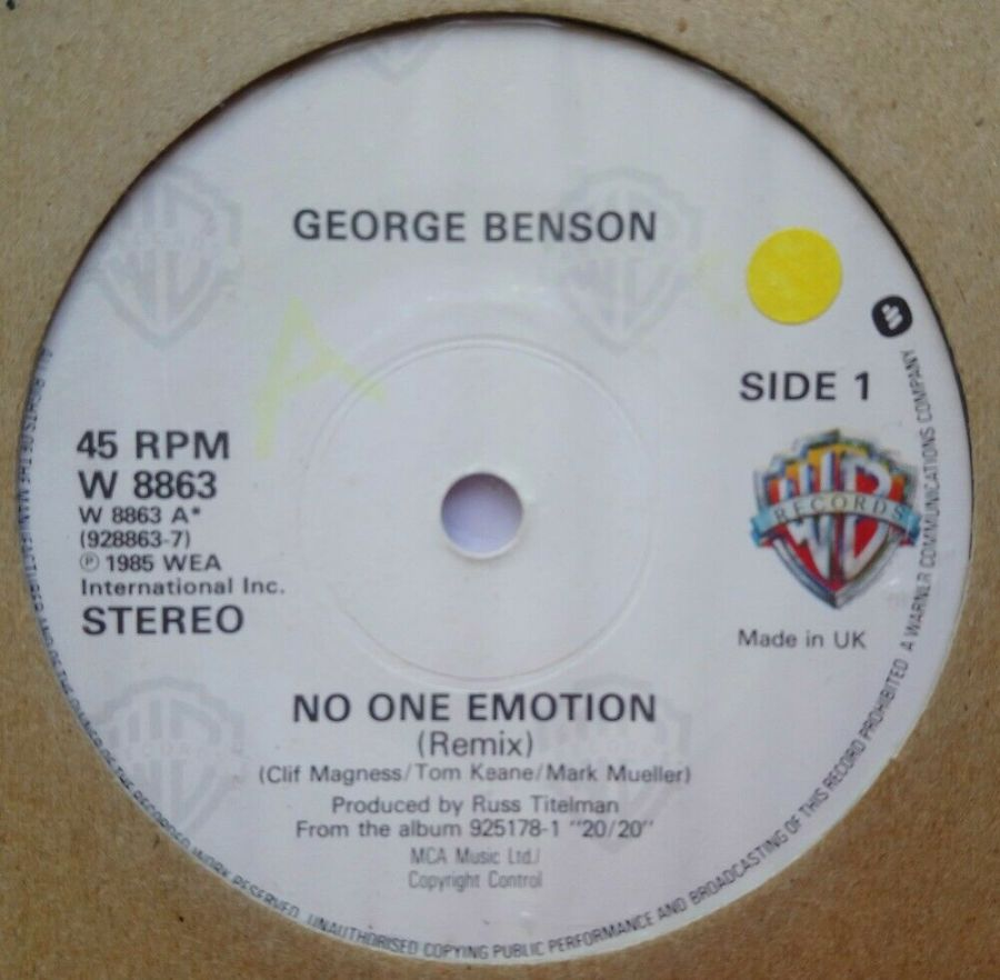 George Benson - No One Emotion - Vinyl Record 7