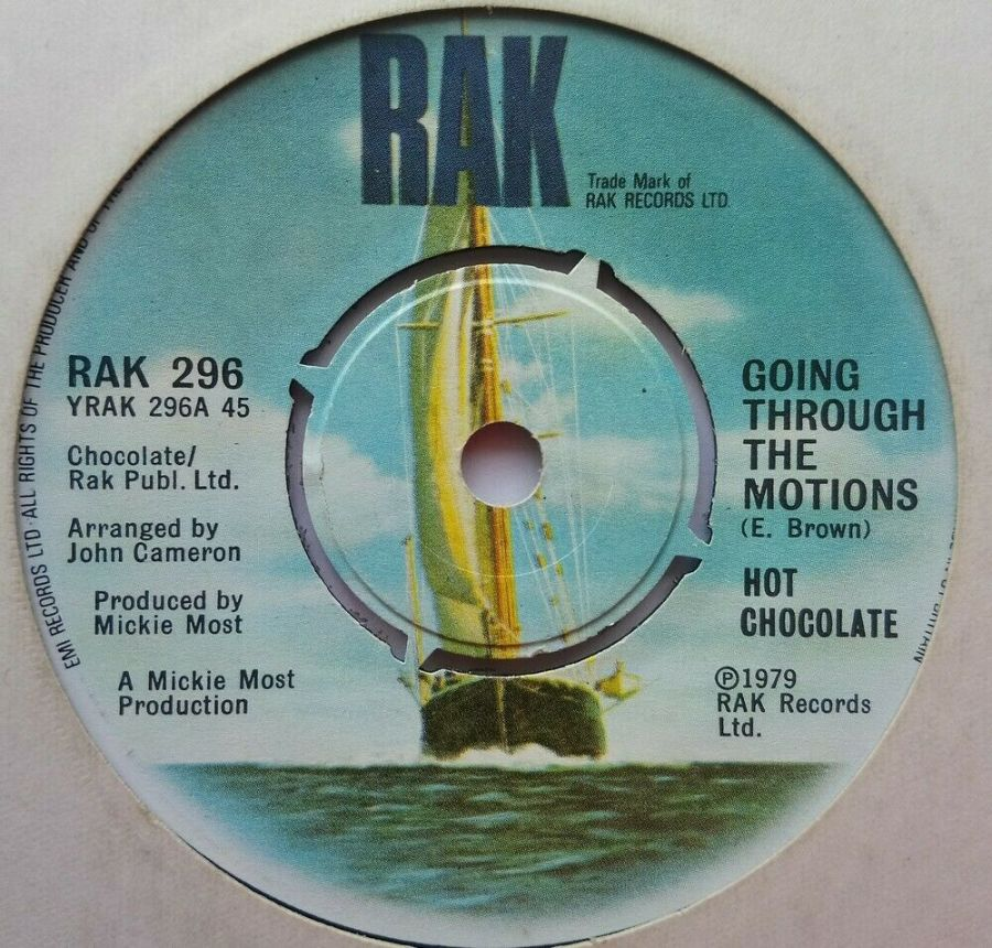 Hot Chocolate - Going Through The Motions - Vinyl Record 7