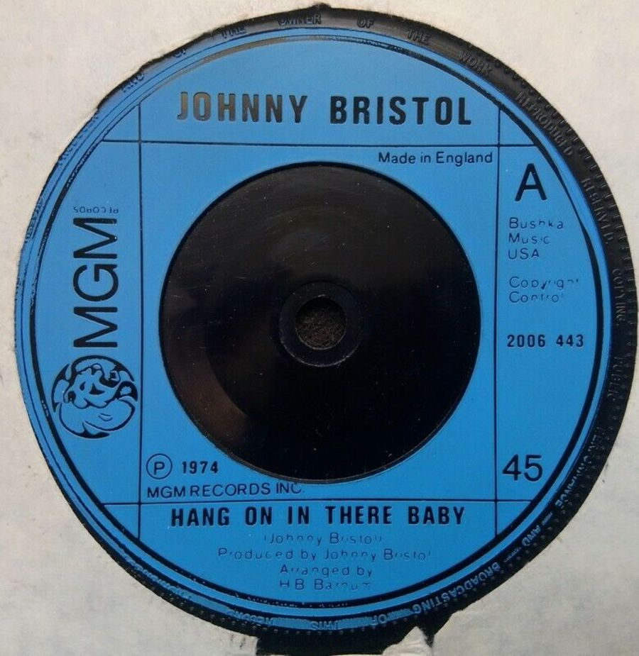 Johnny Bristol - Hang On In There Baby - Vinyl Record 7