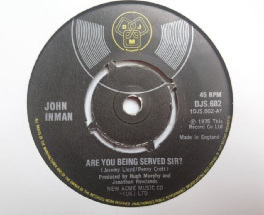 John Inman - Are You Being Served Sir - Vinyl Record 7