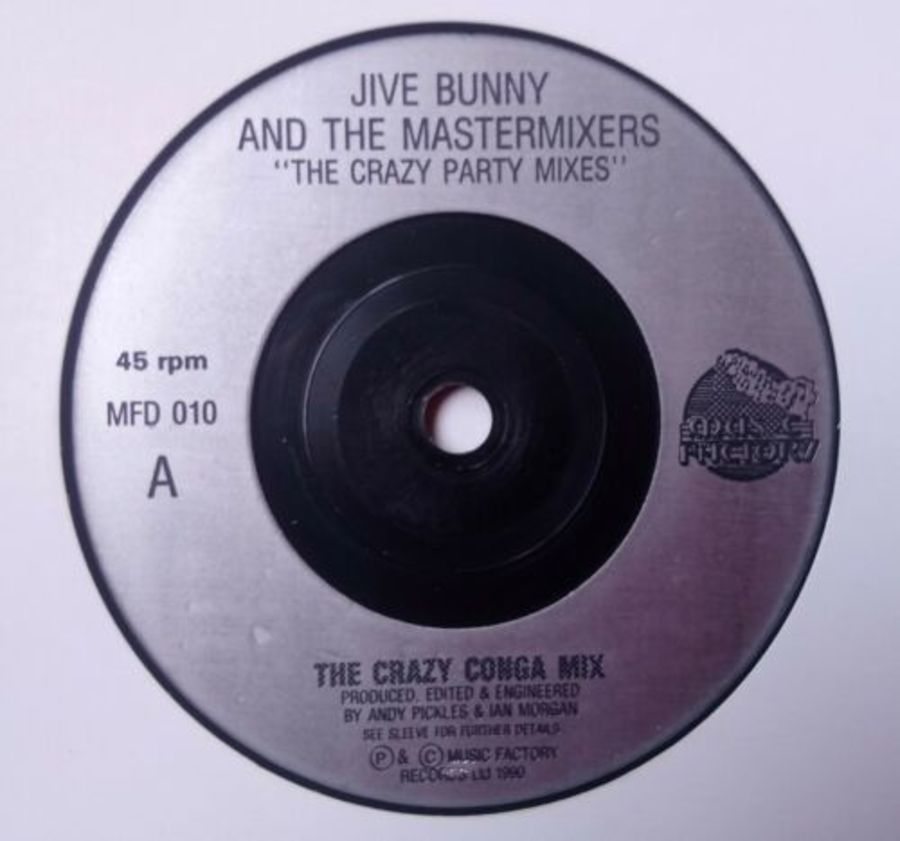 Jive Bunny & The Mastermixers - The Crazy Conga Mix - Vinyl Record 7