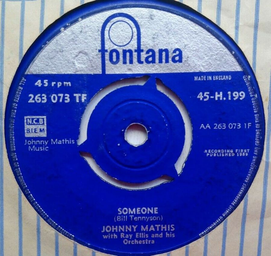 Johnny Mathis - Someone - Vinyl Record 7