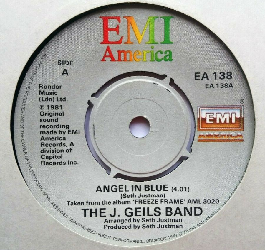 The J Geils Band - Angel In Blue - Vinyl Record 7