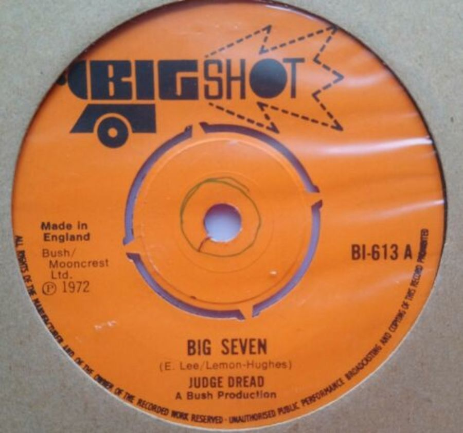 Judge Dread - Big Seven - Vinyl Record 7