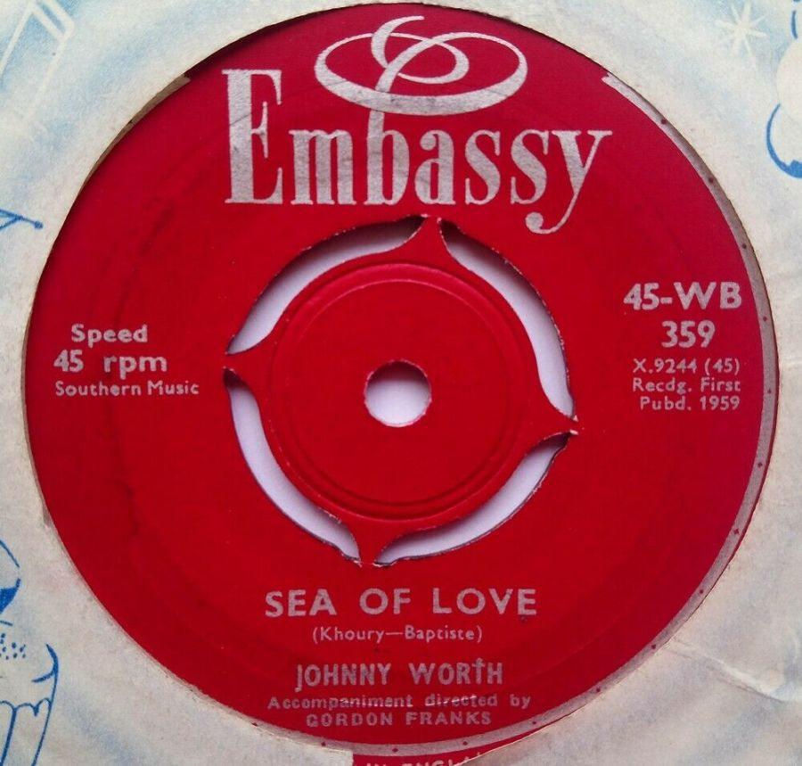 Johnny Worth - Sea Of love - Vinyl Record 7