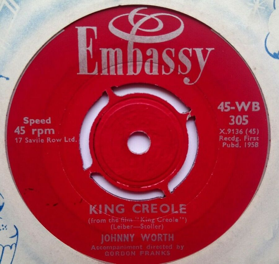Johnny Worth - King Creole - Vinyl Record 7