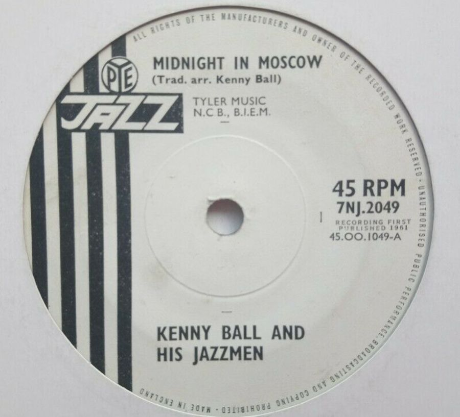 Kenny Ball - Midnight In Moscow - Vinyl Record 7