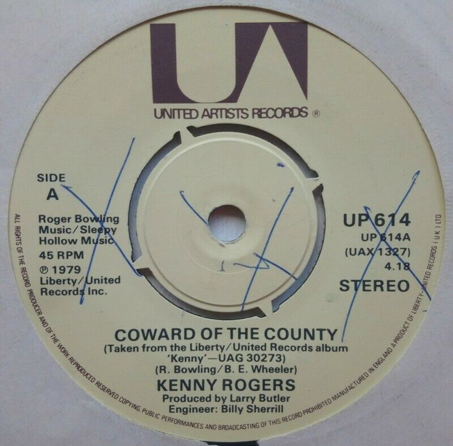Kenny Rogers - Coward Of The County - Vinyl Record 7
