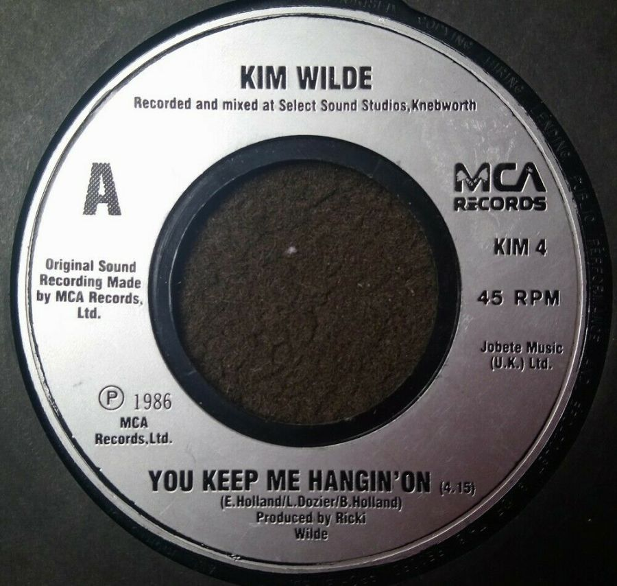 Kim Wilde - You Keep Me Hangin' On - Vinyl Record 7