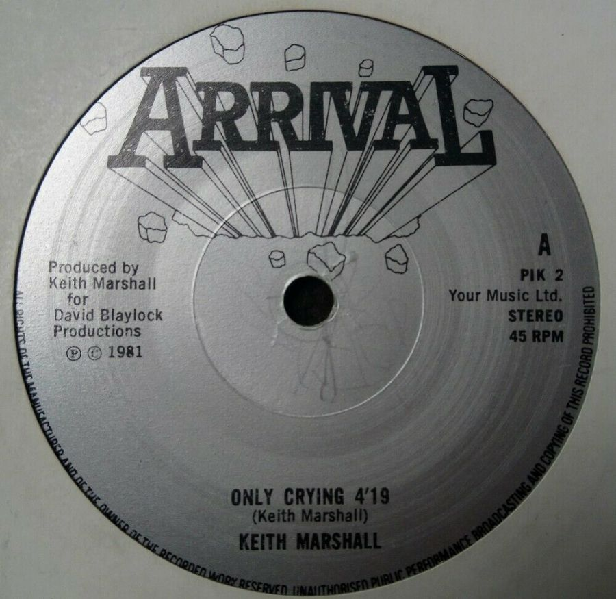 Keith Marshall - Only Crying - Vinyl Record 7