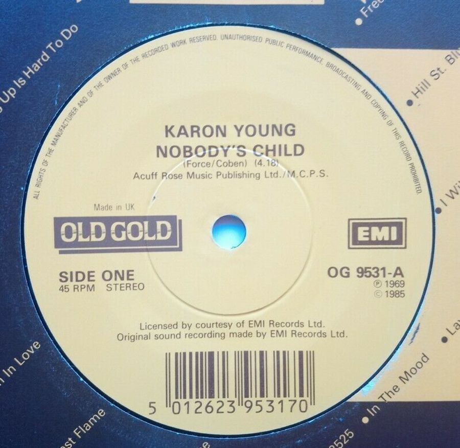 Karon Young - Nobody's Child - Vinyl Record 7