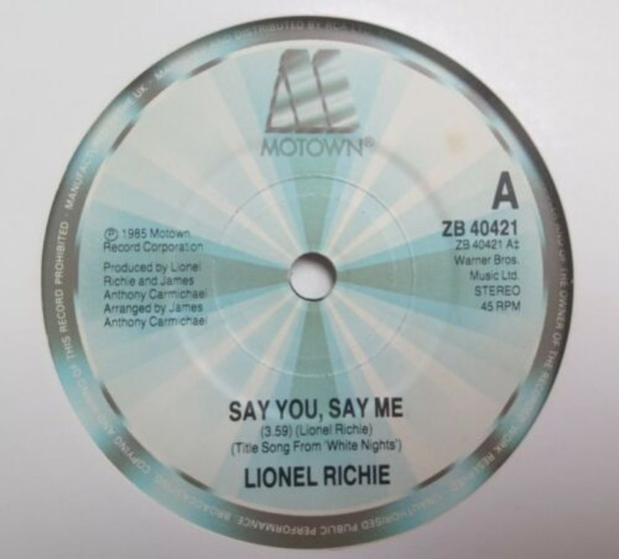 Lionel Richie - Say You Say Me - Vinyl Record 7