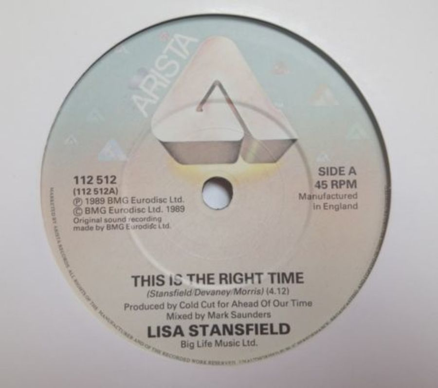 Lisa Stansfield - This Is The Right Time - Vinyl Record 7