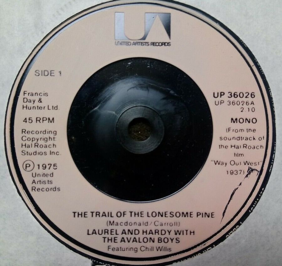 Laurel & Hardy - The Trail Of The Lonesome Pine - Vinyl Record 7