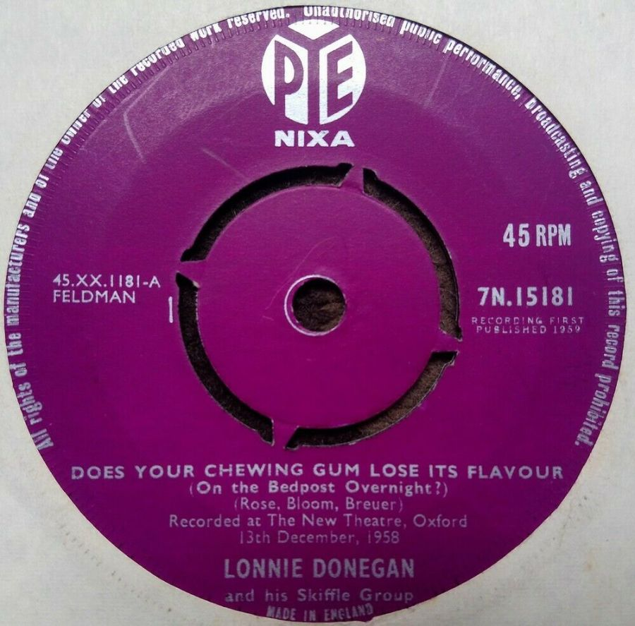Lonnie Donegan - Does Your Chewing Gum Lose It's Flavou - Vinyl Record 7